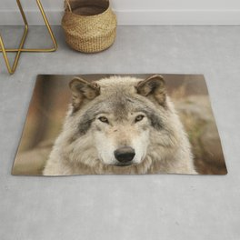 Autumn Timber Wolf Rug