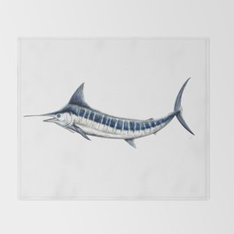 Blue Marlin (Makaira nigricans) Throw Blanket