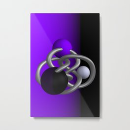 trapped -2of3- violet Metal Print