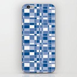 Mod Gingham - Blue iPhone Skin