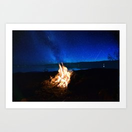 Light the fire, watch the stars Art Print