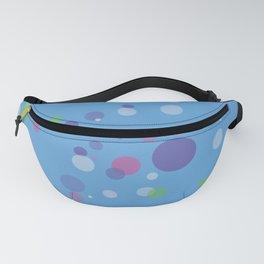 Fantasy Bubbles on Blue Fanny Pack