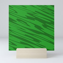 Modern Abstract Paint Splatter - Green - Matching Set 1 of 2 Mini Art Print