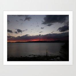 Sunset Over Taupo Art Print