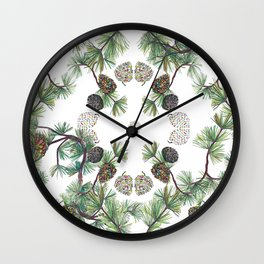 Let Love Grow, Pinecone Close-up Wall Clock