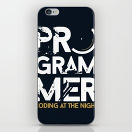 Programmer - Coding at the night iPhone Skin