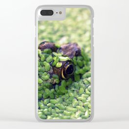 Feeling Froggy Clear iPhone Case