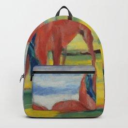 "Franz Marc ""Grazing Horses"" (III) Backpack"