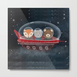 a little space adventure Metal Print