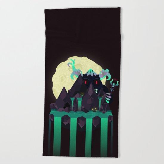 Moonlit Titan Beach Towel