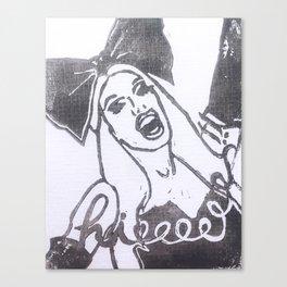 Hieeeeeeeeee! Canvas Print