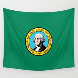 flag Washington,america,usa,Alki,Evergreen State, Washingtonian,Olympia,seattle,Spokane Wall Tapestry