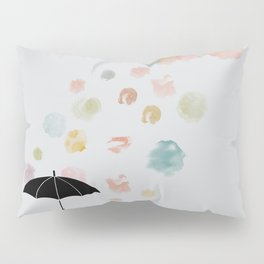 Colorful snow in Winter Pillow Sham