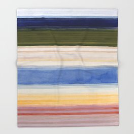 Colorbands Yellowstone Light Pink Throw Blanket