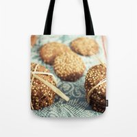 cookies Tote Bags featuring Cookies by Leonor Saavedra