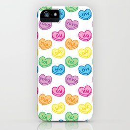 Conversation Hearts iPhone Case