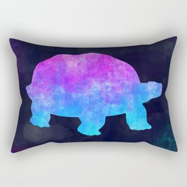 TORTOISE IN SPACE // Animal Graphic Art // Watercolor Canvas Painting // Modern Minimal Cute Rectangular Pillow