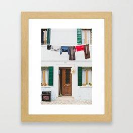 Burano in winter I Framed Art Print
