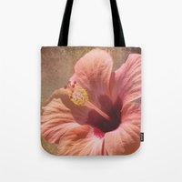 hibiscus Tote Bags featuring Hibiscus by Lynn Bolt