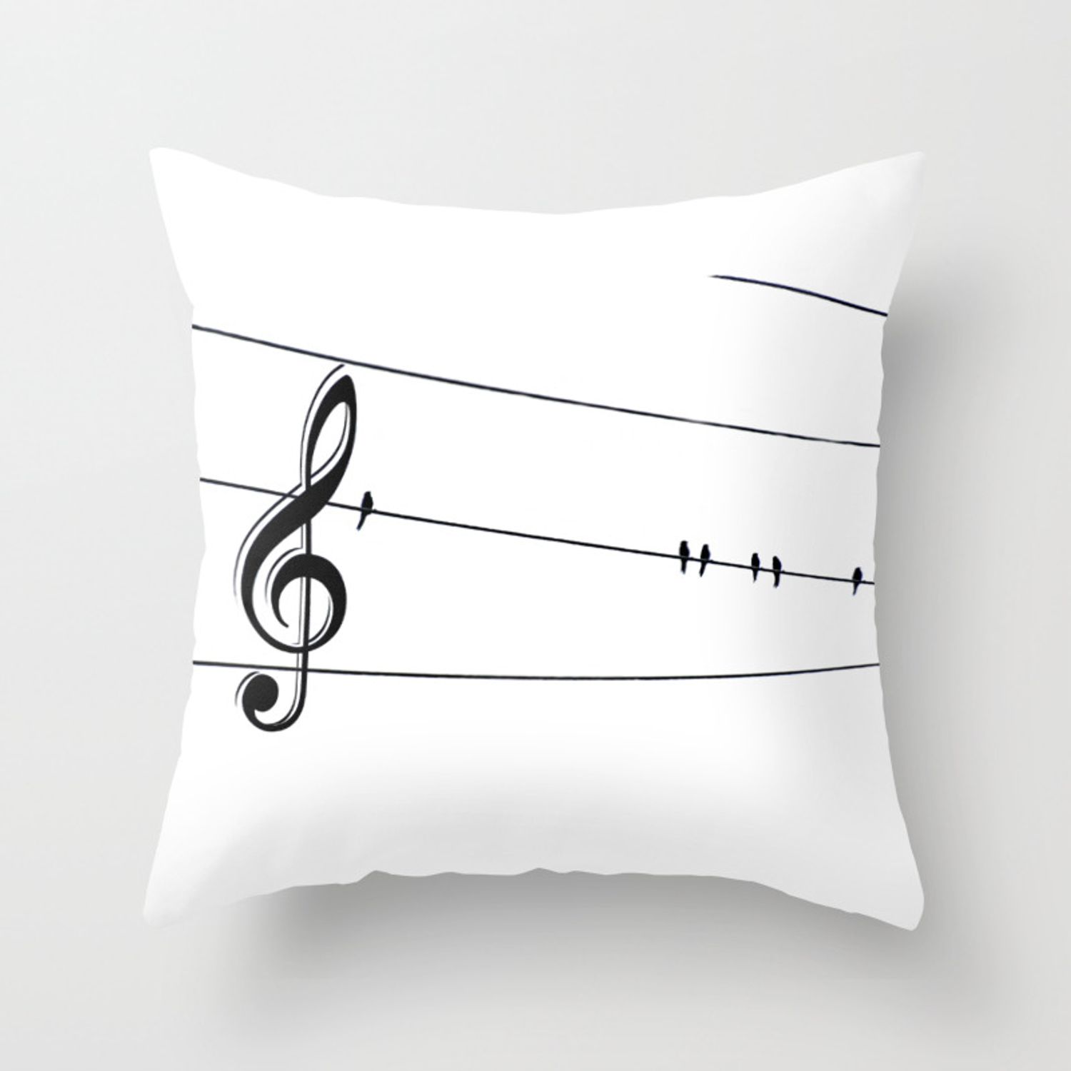 Natures Choir Birds On Wire Music Note A611w Throw Pillow By Nicolphotographicart Society6