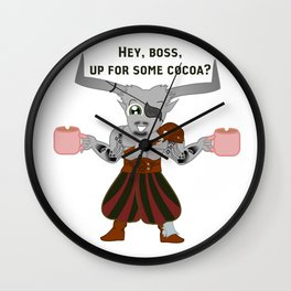 Iron Bull and His Cocoa Wall Clock