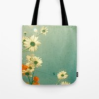 daisy Tote Bags featuring Daisy by Cassia Beck