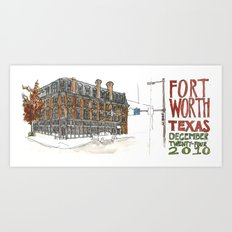 Fort Worth Art Print