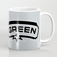 danny haas Mugs featuring Danny Green by Will Wild