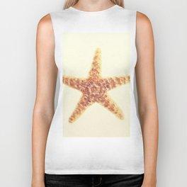 Starfish On A Sand. Biker Tank