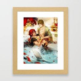 Arabian merman Framed Art Print