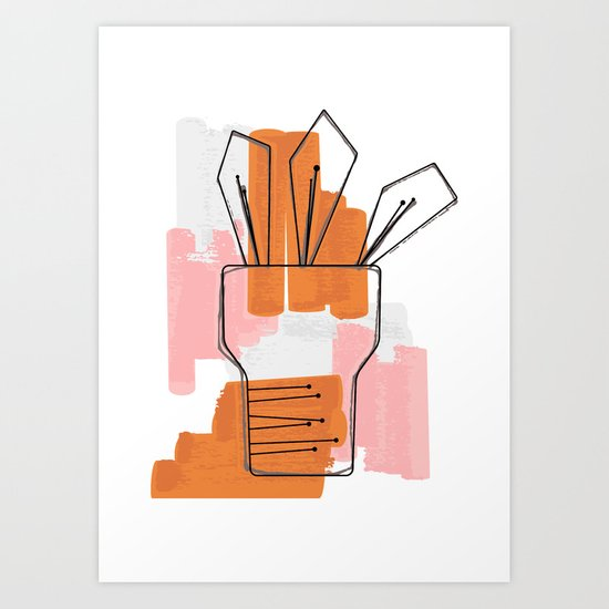Abstract Plant Art Print