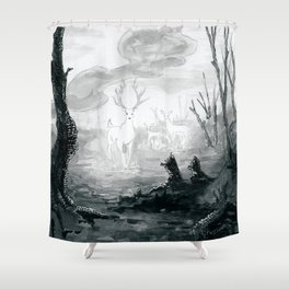 The Spirit Lives On Shower Curtain