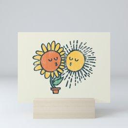 Sun Kissed sunflower Mini Art Print