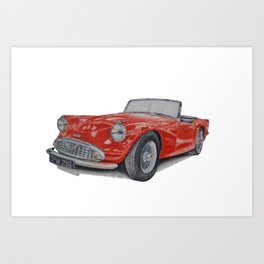 Daimler Dart Art Print
