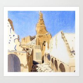The Ruins of the Great Mosque, Gaza, Palestine - Sydney William Carline Art Print