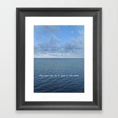May Your Joys be as Deep as the Ocean Framed Art Print