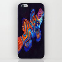 duvet cover iPhone & iPod Skins featuring AMAZING CREATURE DUVET COVER by aztosaha