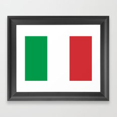Flag of Italy - High quality authentic version Framed Art Print