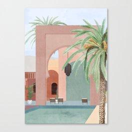 Moroccan Pool Canvas Print