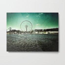 Paris Wheel II Metal Print