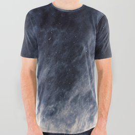 Blue Clouds, Blue Moon All Over Graphic Tee