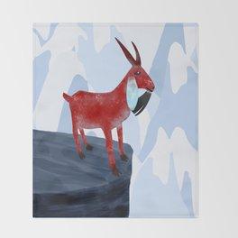Mountain Goat Design Throw Blanket