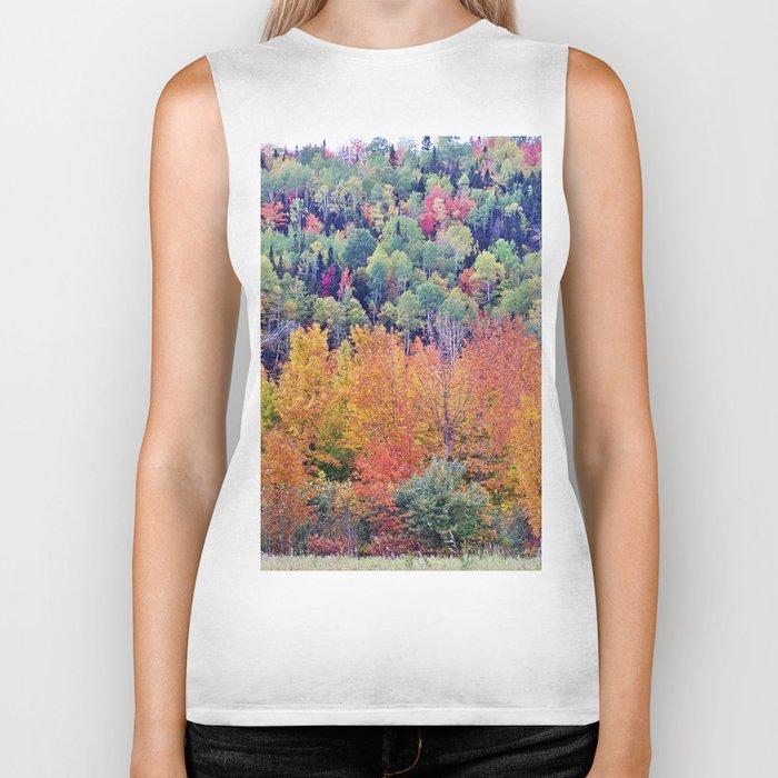 Paint By Nature - Fall Foliage Biker Tank