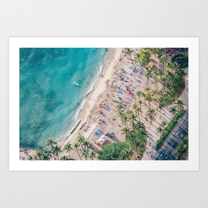 Waikiki Beach Kunstdrucke