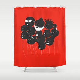 Balloon friends Shower Curtain