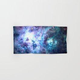 Tarantula Nebula Blue Lavender Gold Hand & Bath Towel