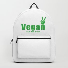 Vegan / It's a way of life Backpack