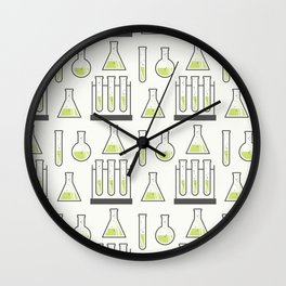 Scientific Vials Wall Clock