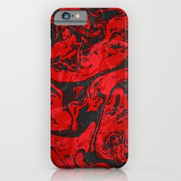 Black & Red Marble II iPhone Case