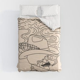 Love or Die Tryin' - Cowhand Black & Cream Comforters